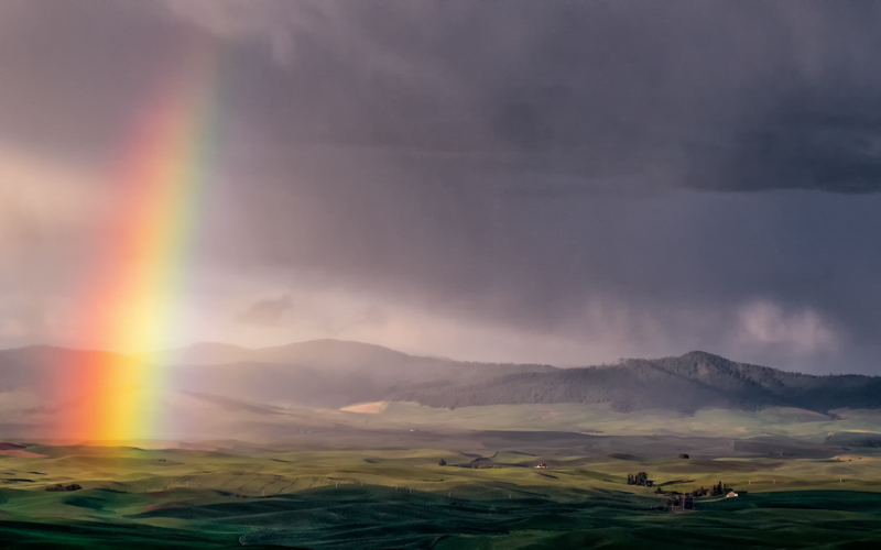 Rainbow, Palouse Region, Washington